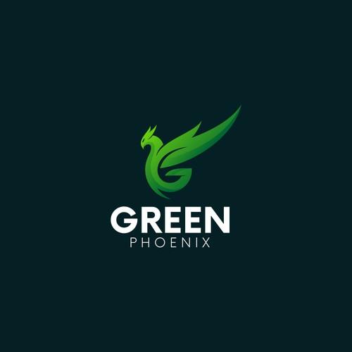 Green Phoenix Logo Design