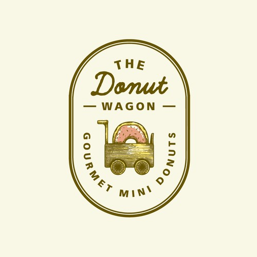 Donut wagon logo concept🍩
