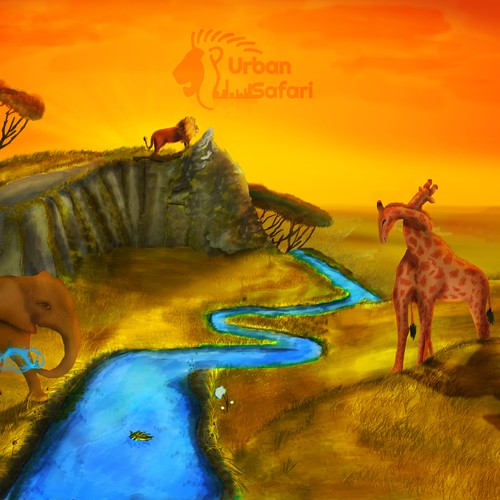 Illustration for a Mural to promote animal welfare,education along with plush toy sales