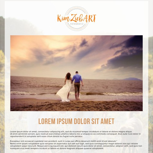 Logo and website template presentation for Kim ZiebART