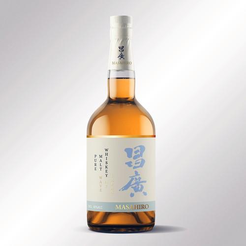 Japan Whiskey label design