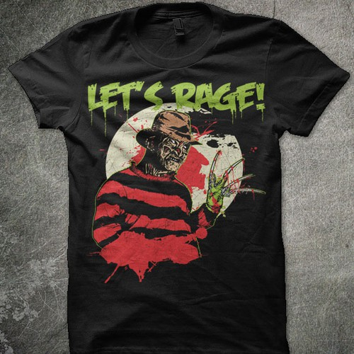 Freddy Krueger design for Let's Rage! Clothing