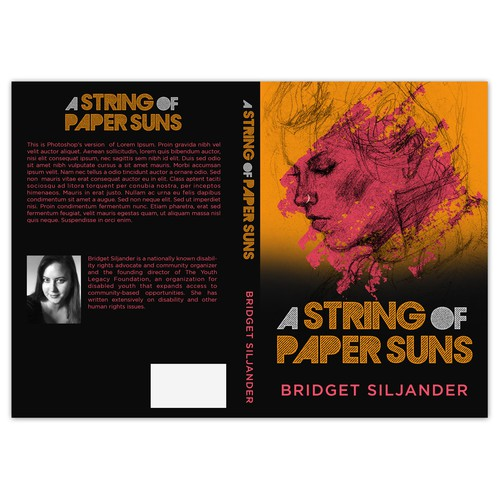 Book Cover Design for Bridget Siljander's A String of Paper Suns