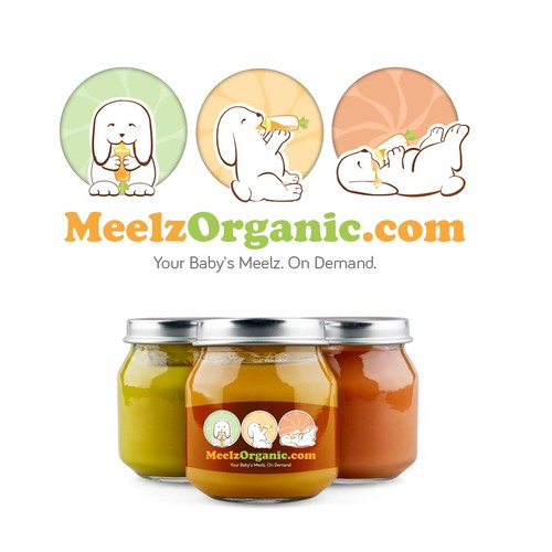 Cute logo for baby food