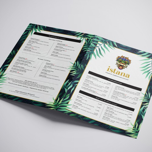 Modern & Hip Menu Design