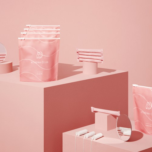 Athena club tampons packaging design