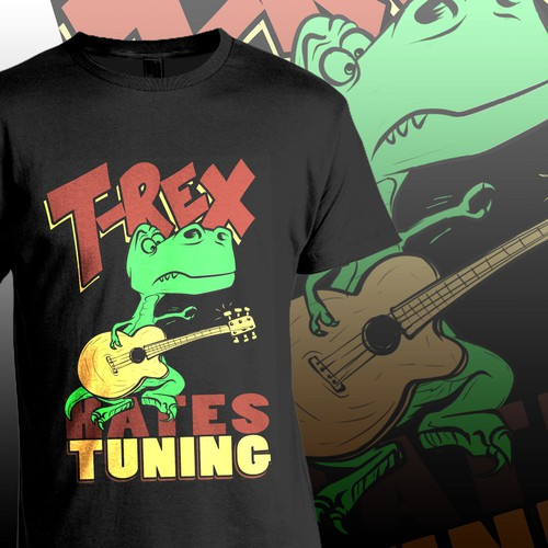 T-rex Hates Tuning t-shirt illustration for SmartFusion