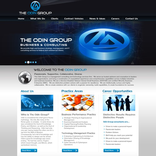 The Odin Group needs a new website design