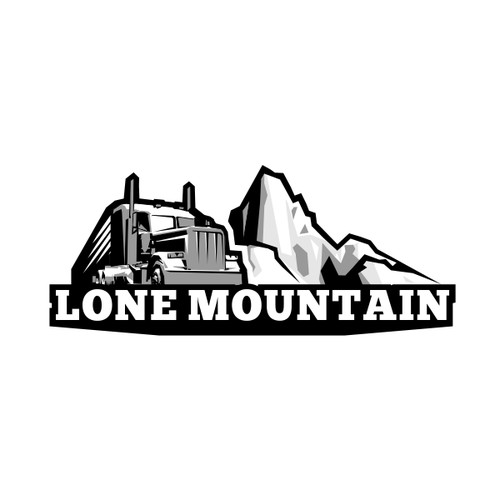 Create modernized logo for Lone Mountain