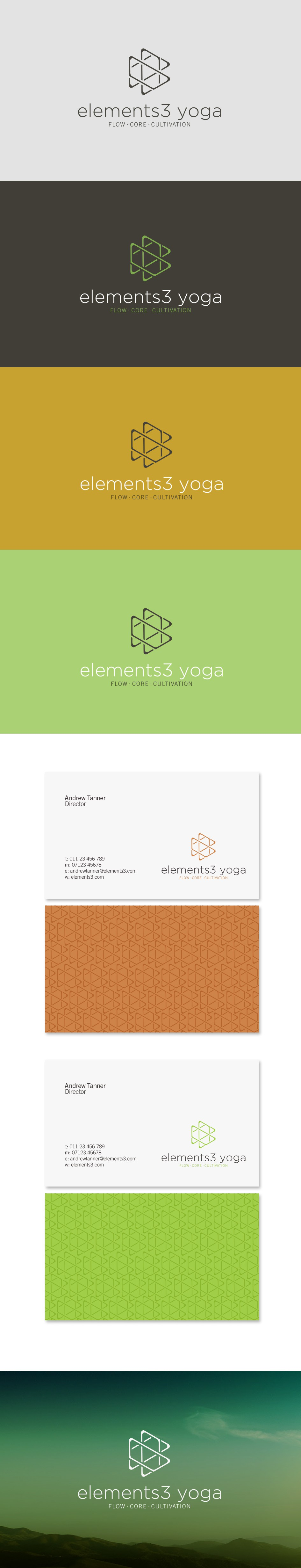 Create a cool logo for Elements3 Yoga