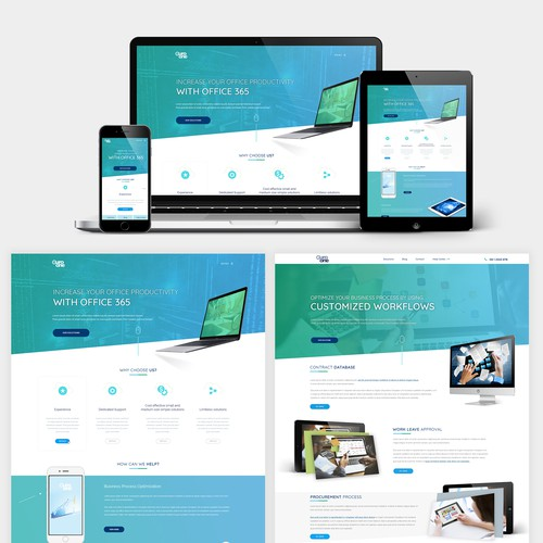 web design for a cloud tech company
