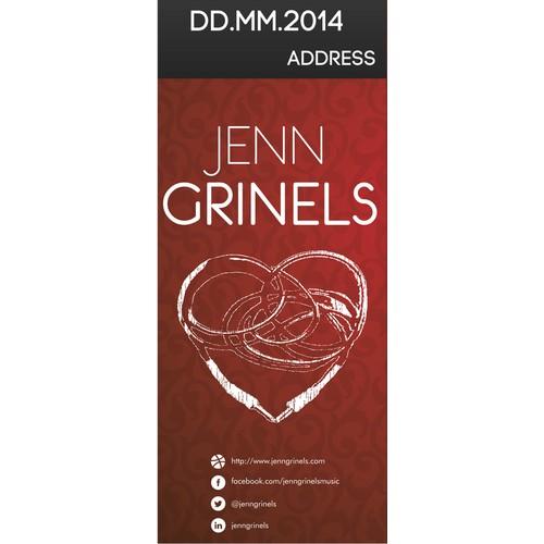 Design a concert banner for touring singer/songwriter Jenn Grinels