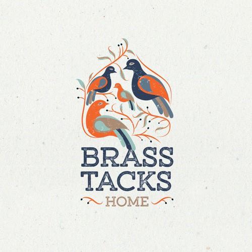 Logo design for Brass Tacks Home