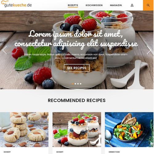 Culinary website concept