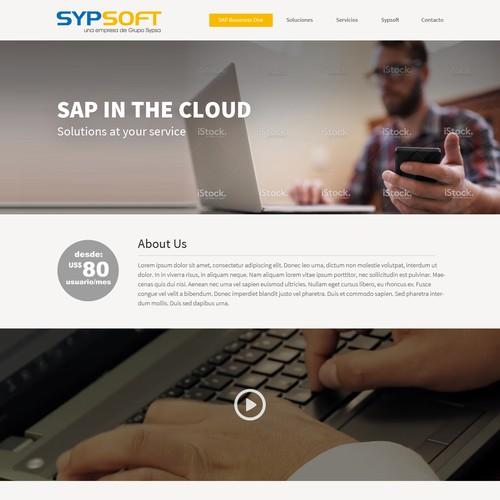 Landing Page para SAP en la nube