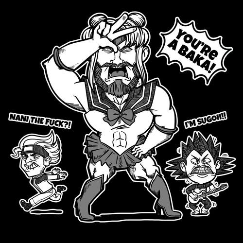 Tshirt design for a metal band