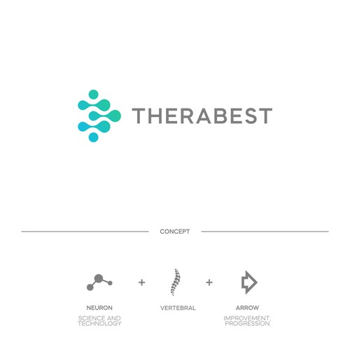 Simple and modern logo for TheraBest