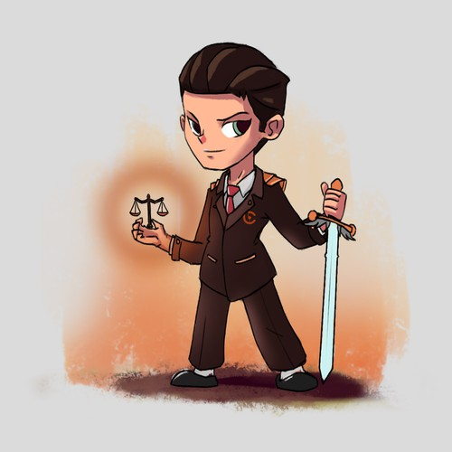 Character Design Maskot for a Law Firm