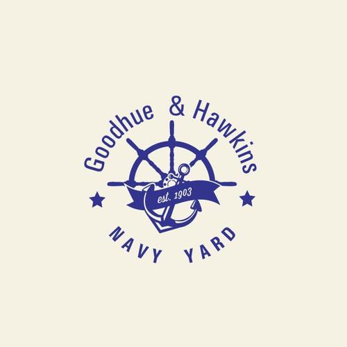 Logo Design for historic, classy MARINA (boat sales and service)