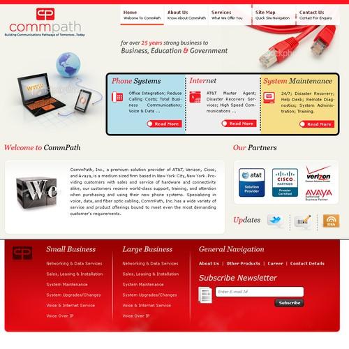 Telecommunication company needs new, attractive website