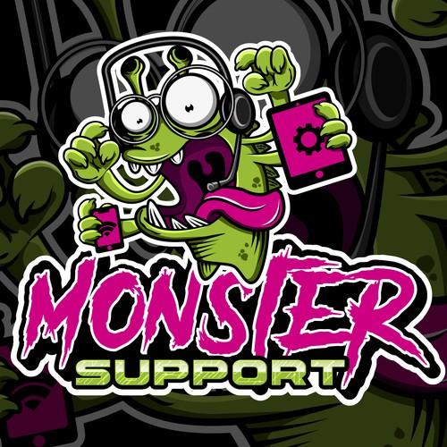 Monster Support Digital Illustration