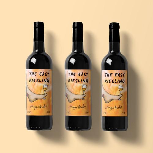 Bright wine label design
