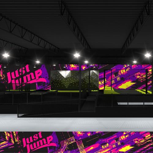 Print design fot Just Jump club