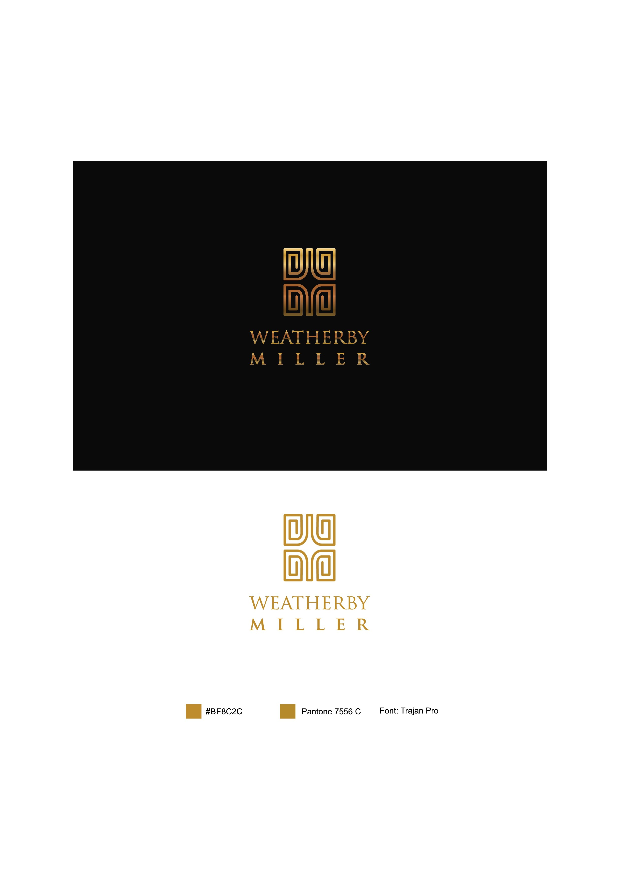 Create a sophisticated logo for runway fashion jewelry by Weatherby Miller