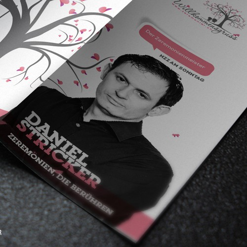 Brochure of wedding Prof