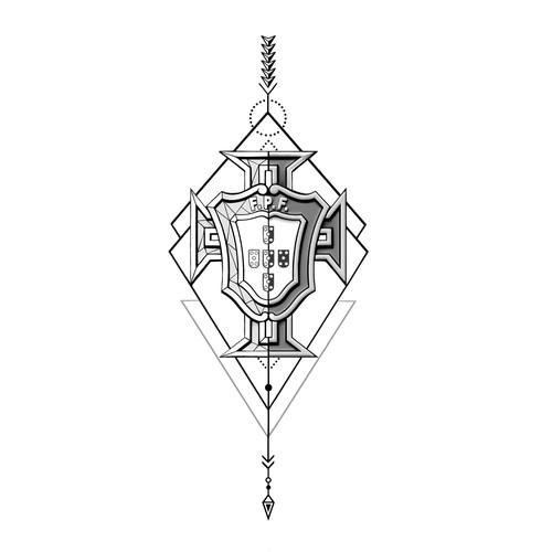 Tattoo design emblem
