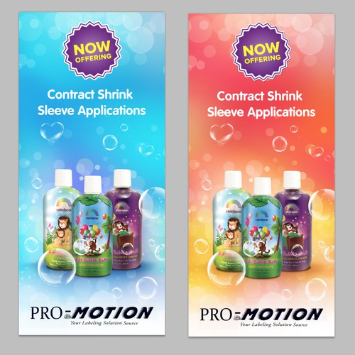 Shrink Sleeve Application Banner