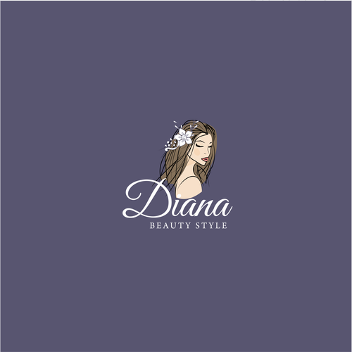 Illustrative logo design for a beauty shop
