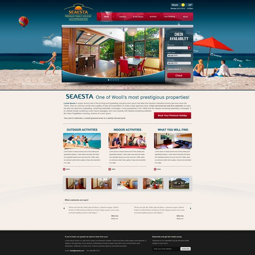 Create the next website design for Seaesta
