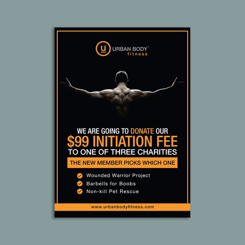 Urban Body Fitness Flyer
