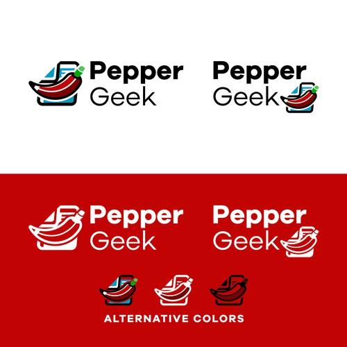 Spicy food blog logo