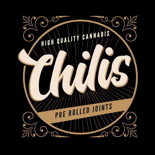 Logo Concept For Chilis Pre Rolled Joints.