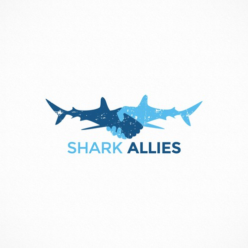 SHARK ALLIES -Logo for ocean conservation group in Venice Beach -California!