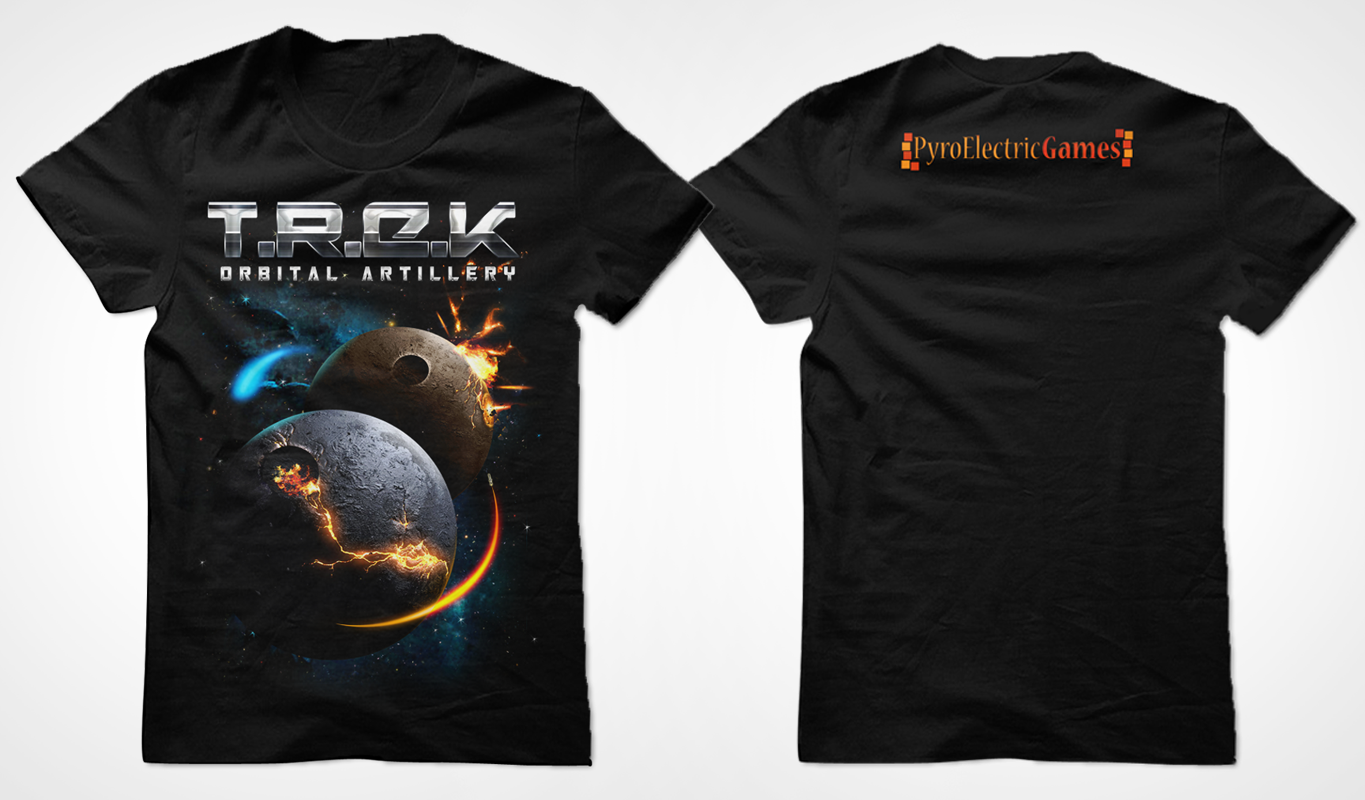 PyroElectric Games - T.R.E.K. iOS Game needs a new t-shirt design
