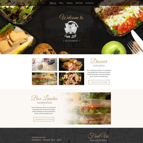 Website design for restaurant