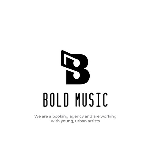 Simple, clean, clever and bold logo design for Bold Music