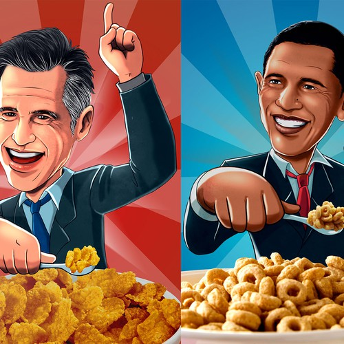 Obama and Romney caricature illustrations!