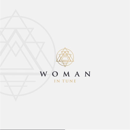 warm, feminine, and classy logo for woman in tune