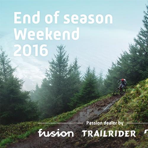 Postcard for bike company