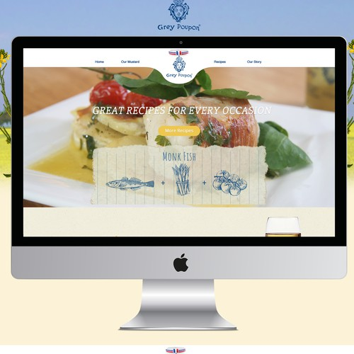 WordPress website for a brand of premium Dijon Mustard