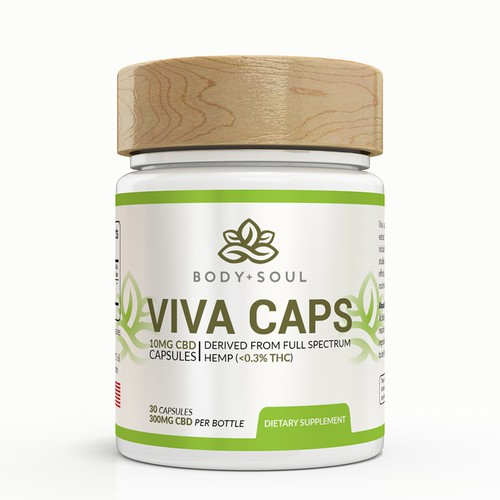 Design Product Label for All-Natural Wellness Capsules