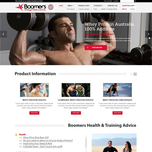 Webpage for Boomers