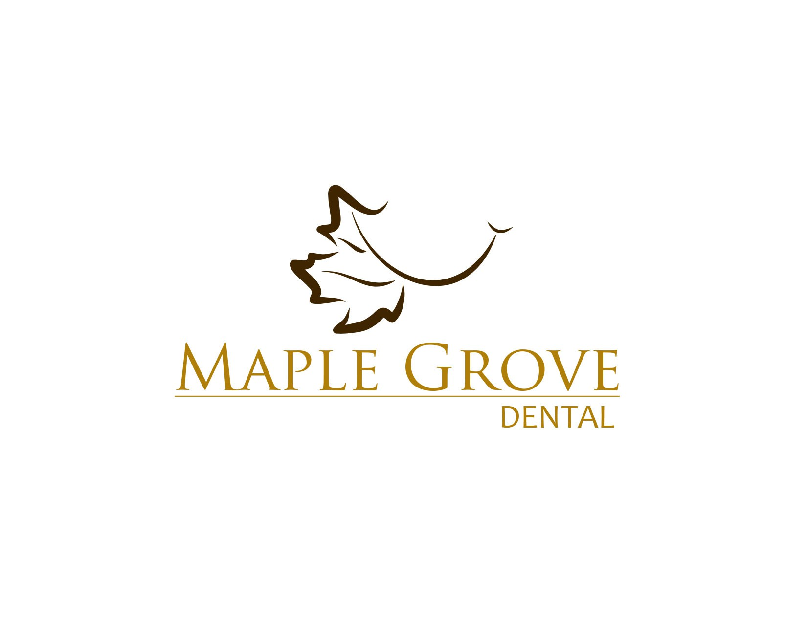logo for Maple Grove Dental.  It can be a seperate logo or incorperated in part of the name.