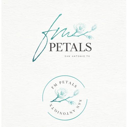 Elegant & clean logo for floral design services in Antonio,TEXAS.