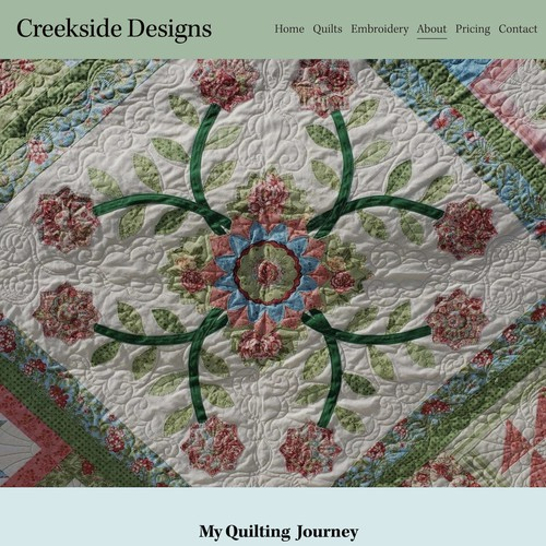 New Squarespace Website For A Quilter.