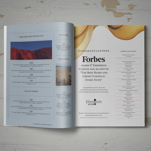 Advertorial for magazine, The Emmerich Group